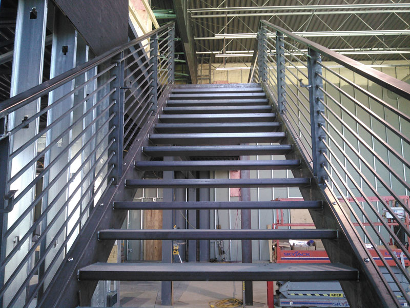 Industrial Metal Stairway RAW Metal Works