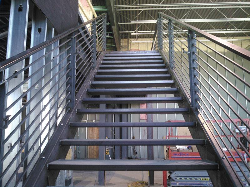 Industrial Metal Stairway RAW Metal Works