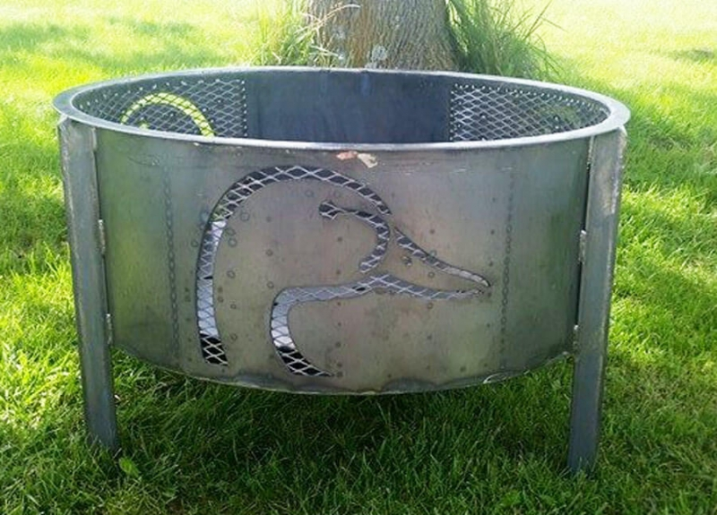 Duck-head-firepit-RAW Metal Works - Custom Metal Fire Pit Archives RAW Metal Works