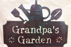 Metal-Grandpas-Garden-sign-RAW Metal Works